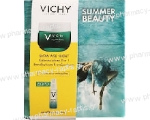 Vichy Promo Slow Age Night Δροσερή Κρέμα Νύχτας Και Μάσκα 2 σε 1 50ml Και Δώρο Mineral 89 10m